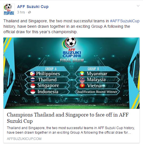 ซูซูกิ คัพ 2016 ทีมชาติไทย