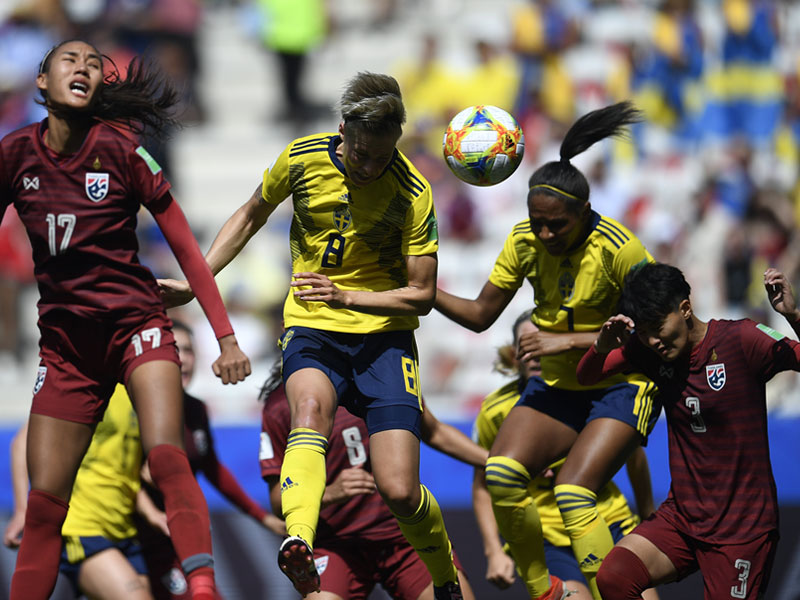 ฟุตบอลหญิงชิงแชมป์โลก : สวีเดน (ญ) 5-1 ทีมชาติไทย (ญ)
