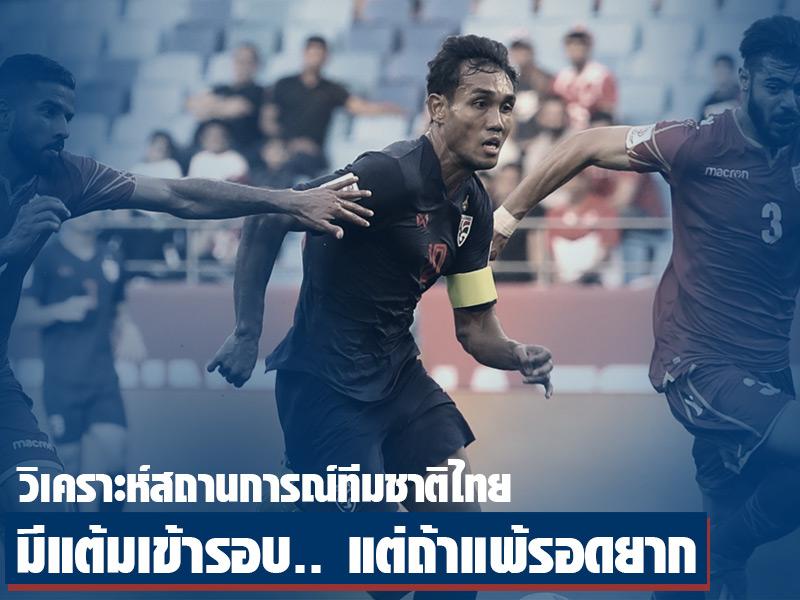 เอเชียนคัพ 2019 : เงื่อนไขและโอกาสเข้ารอบของทีมชาติไทย