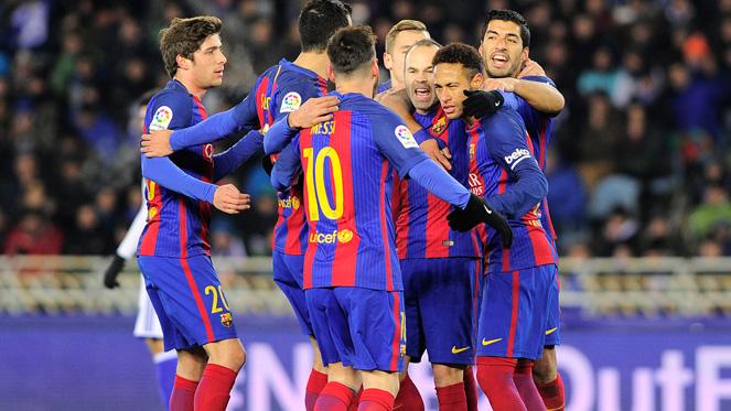 โกปา เดล เรย์ สเปน : โซเซียดาด 0-1 บาร์เซโลน่า