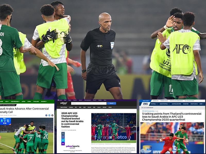 U23 ชิงแชมป์เอเชีย 2020 : สื่อนอกชี้ทีมชาติไทยเสียจุดโทษไม่เคลียร์