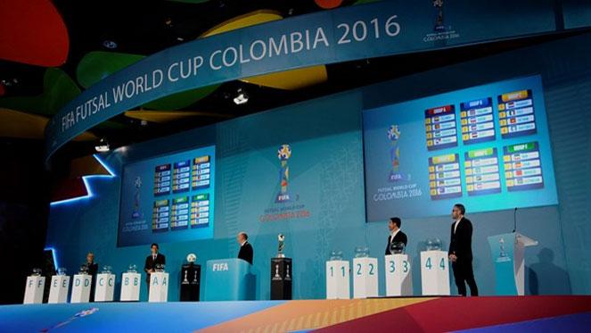 มาแล้ว !! ผลการจับสลากแบ่งสายฟุตซอลโลก 2016