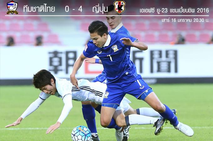 ทีมชาติไทย 0-4 ญี่ปุ่น : ยู-23 ชิงแชมป์เอเชีย