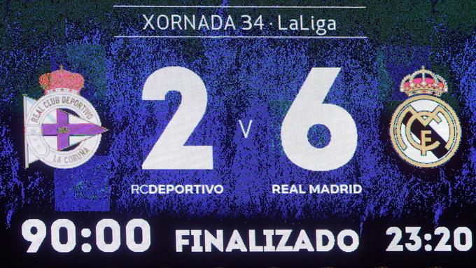 ลา ลีกา สเปน : ลา กอรุนญ่า 2-6 เรอัล มาดริด