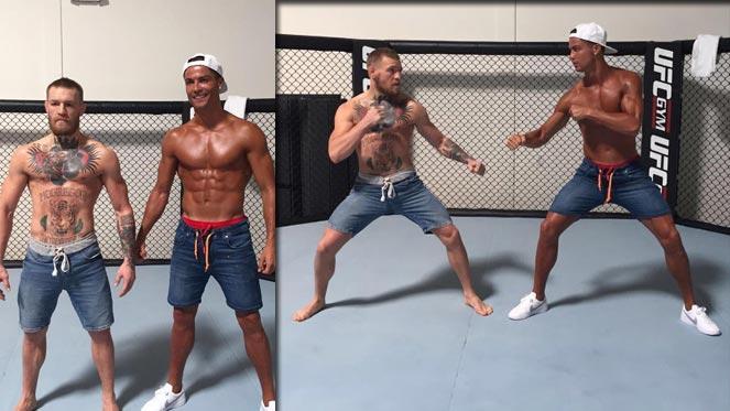 จะย้ายสายเหรอพี่ !! คริสเตียโน่ โรนัลโด้ โผล่ซ้อมยิม UFC
