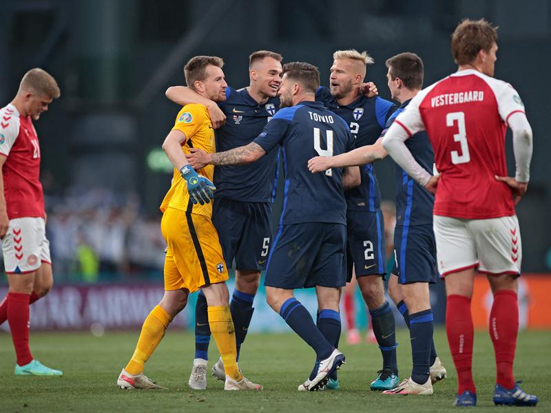 ยูโร 2020 : เดนมาร์ก 0-1 ฟินแลนด์