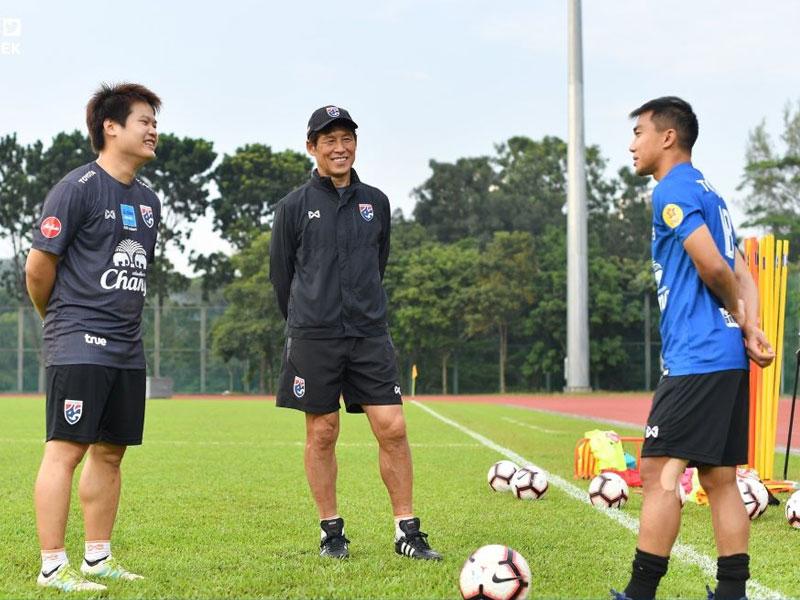 เตรียมดวลเสือเหลือง !! นิชิโนะ นำแข้ง ทีมชาติไทย ประเดิมฝึกซ้อมที่ มาเลเซีย