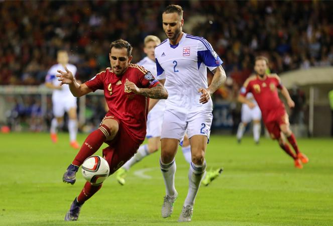 สเปน 4-0 ลักเซมเบิร์ก : กระทิงดุฉลุยรอบสุดท้าย