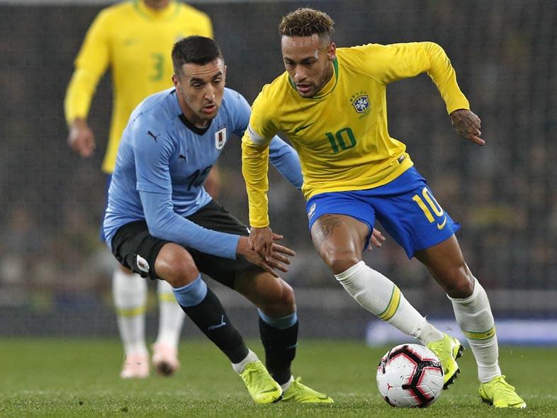 บราซิล v อุรุกวัย ผลบอลสด ผลบอล ฟุตบอลอุ่นเครื่อง
